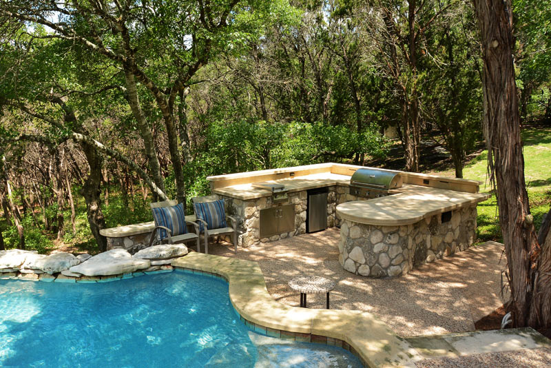 Custom Outdoor Kitchen Design Austin, Texas - Southern Landscape